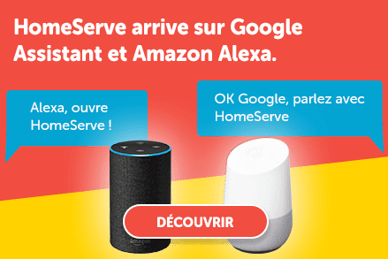 HomeServe arrive sur Google Assistant et Amazon Alexa