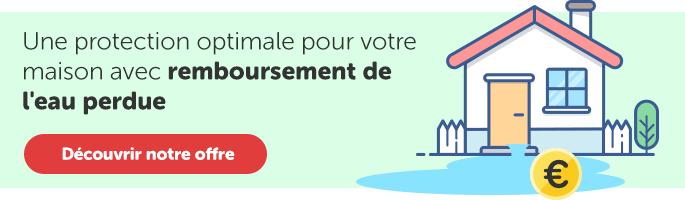 Contrat d'assistance pour les fuites d'eau et le remboursement de l'eau perdue